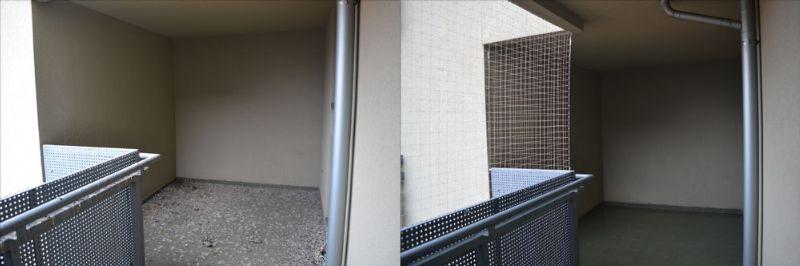 Czyszczenie ptasich odchodów z balkonu (przed i po) - Top Protect
