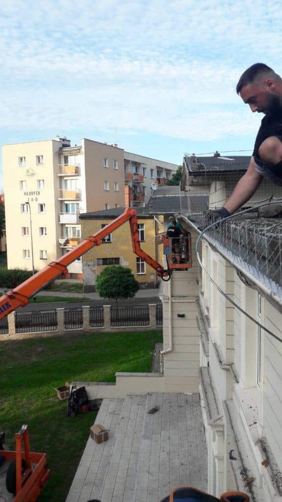 Profesjonalny montaż kolców na ptaki na dachu